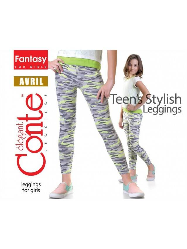 Leggings for girl CONTE ELEGANT AVRIL, s.122,128-64, pink - 1