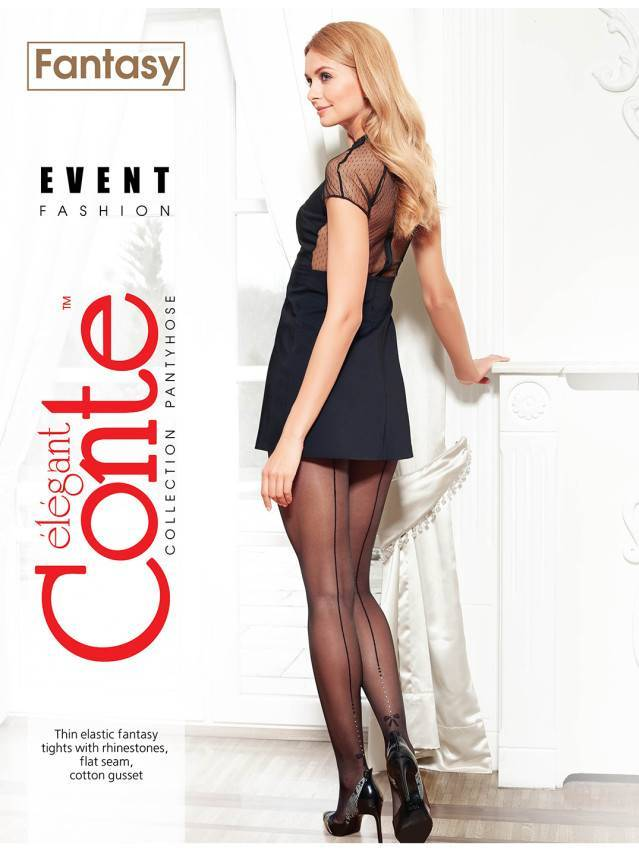 Women's tights CONTE ELEGANT EVENT, s.3, grafit - 2