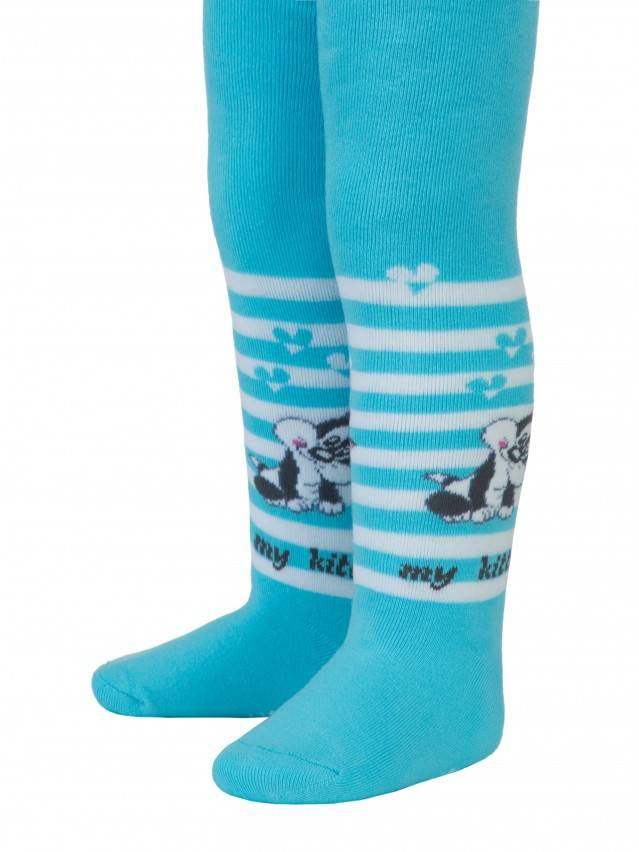 Children's tights CONTE-KIDS SOF-TIKI, s.62-74 (12),390 turquoise - 1