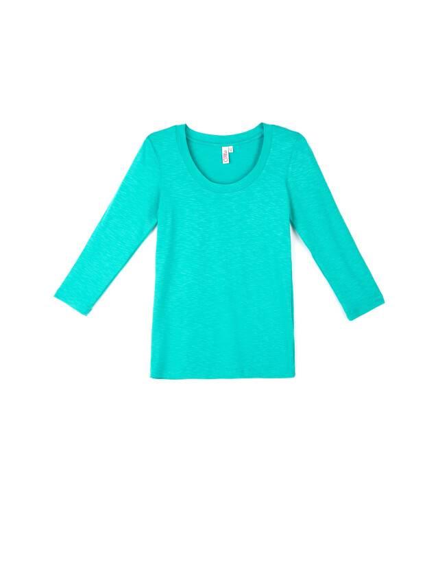 Women's polo neck shirt CONTE ELEGANT LD 478, s.158,164-100, turquoise - 1