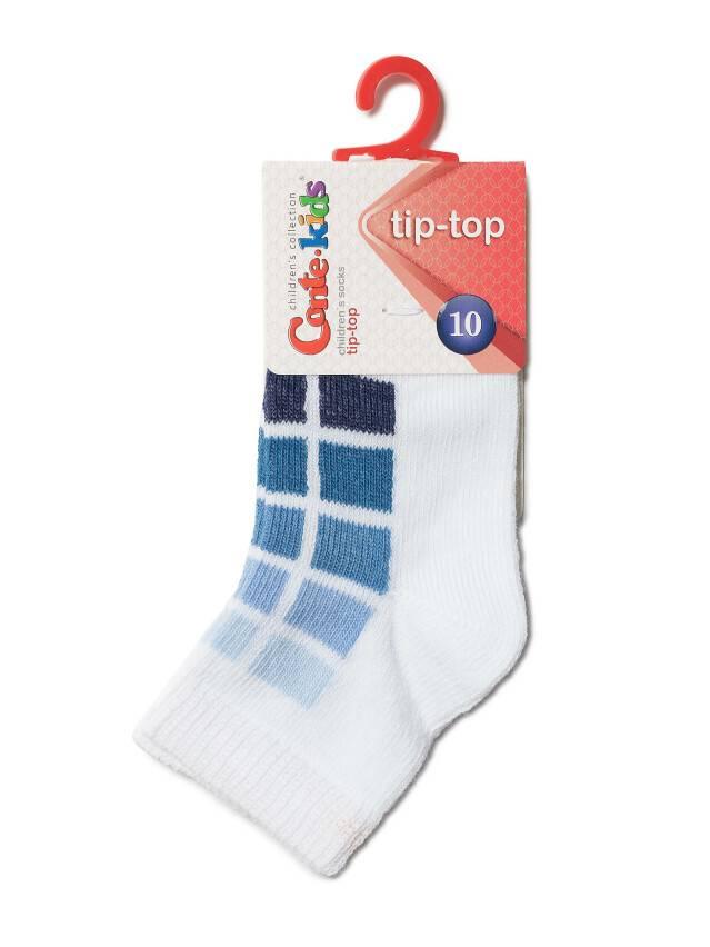 Children's socks CONTE-KIDS TIP-TOP, s.10, 217 white-denim - 2