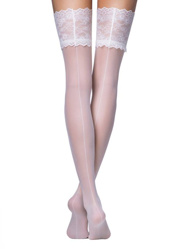 Women's stockings CONTE ELEGANT DELUXE, s.23-25 (1/2),bianco - 1