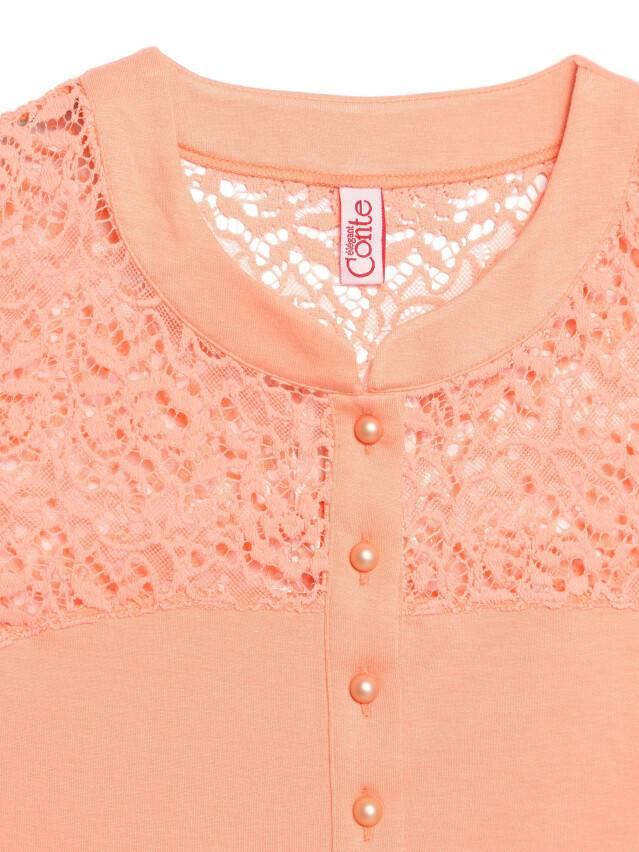 Women's polo neck shirt CONTE ELEGANT LD 514, s.158,164-84, peach - 3