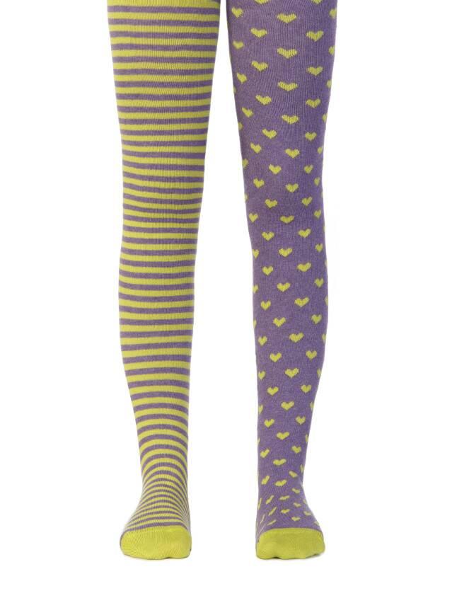 Children's tights CONTE-KIDS TIP-TOP, s.62-74 (12),355 violet-dark lettuce green - 1
