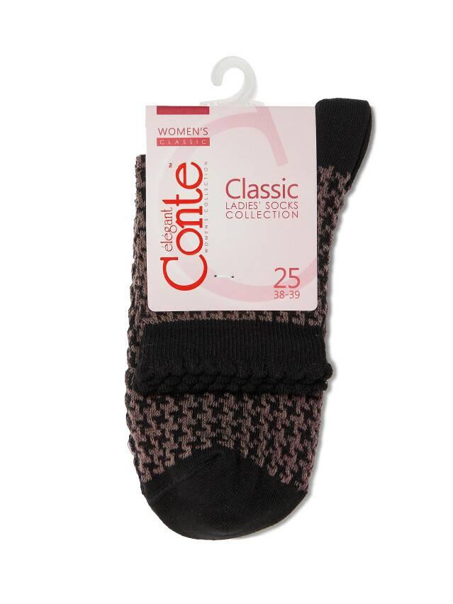 Women's socks CONTE ELEGANT CLASSIC, s.23, 056 black-coffee - 3