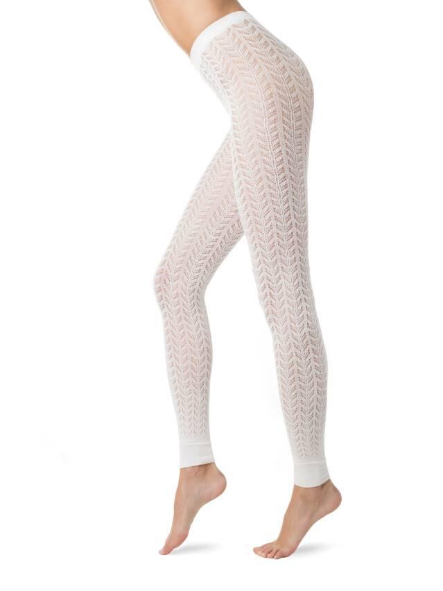 Women's leggings CONTE ELEGANT ART, s.2, bianco - 1