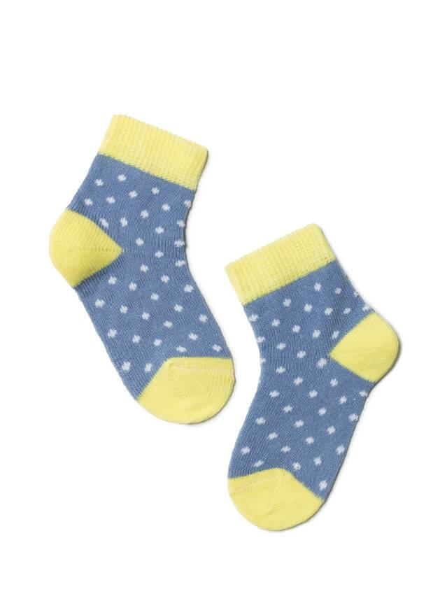 Children's socks CONTE-KIDS TIP-TOP, s.10, 214 denim-yellow - 1