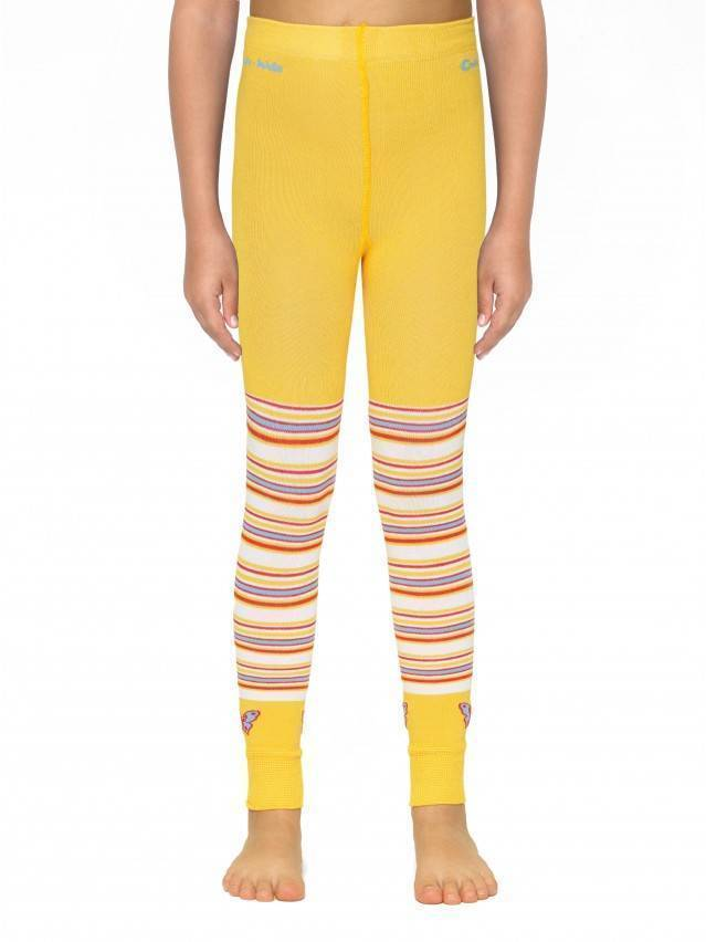 Leggings for girls CONTE-KIDS VIVA, s.116-122, 006 yellow - 1