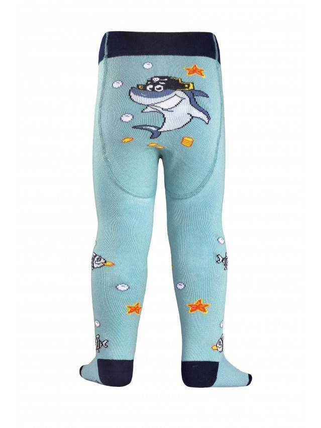 Children's tights CONTE-KIDS TIP-TOP, s.62-74 (12),379 grey-turquoise - 2