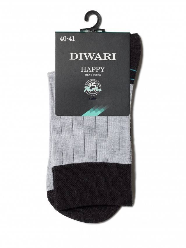 Men's socks DiWaRi HAPPY, s. 40-41, 048 black-grey - 2