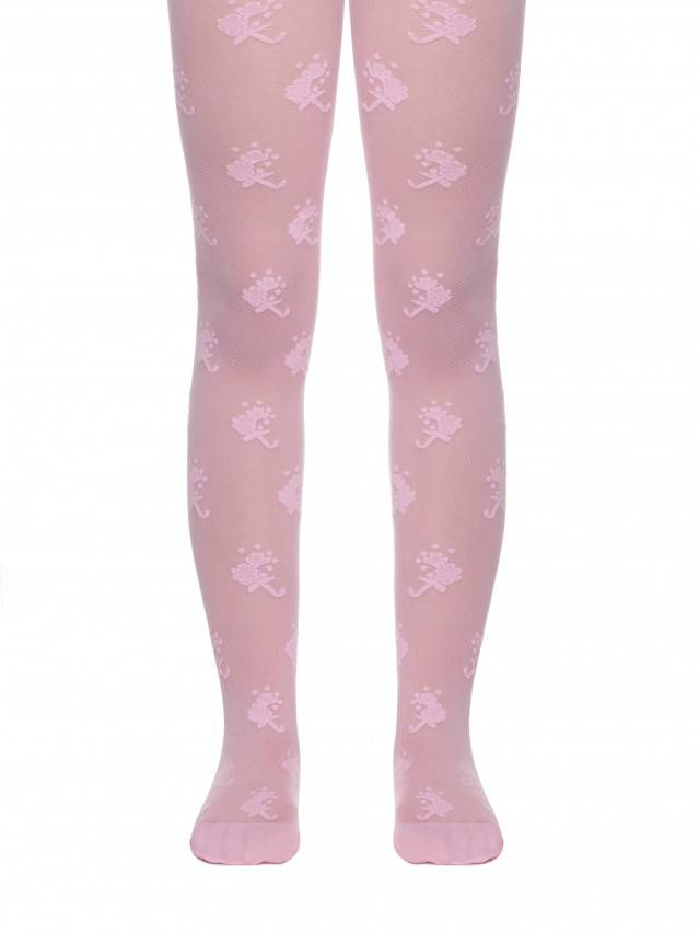 Fancy children's tights CONTE ELEGANT LISSA, s.104-110, pink - 1