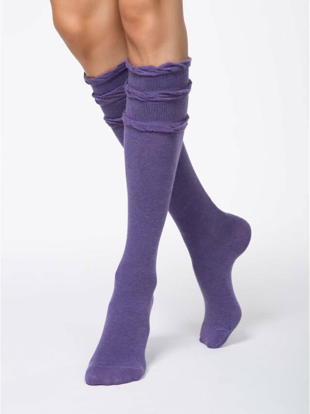 Women's knee high socks CONTE ELEGANT COMFORT, s.23, 002 violet - 1