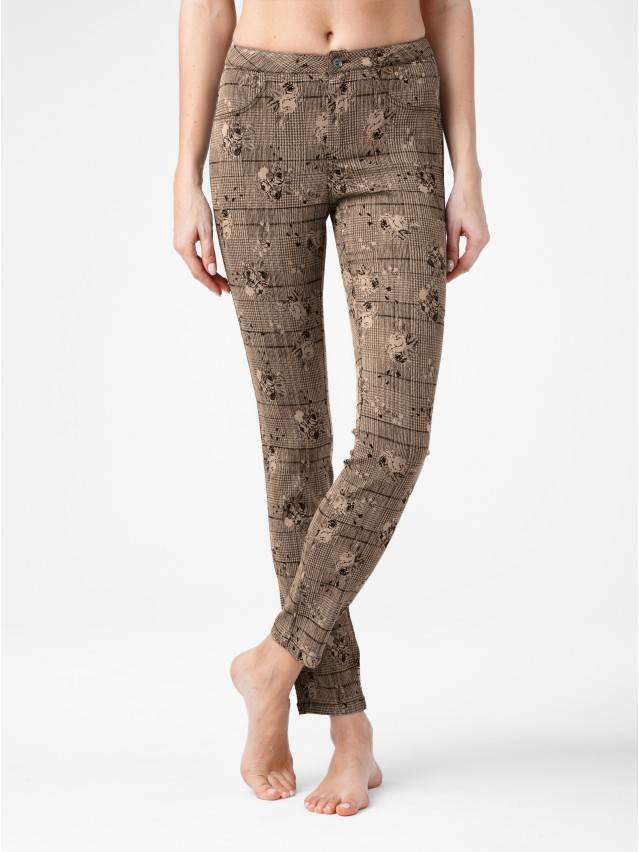 Women's trousers CONTE ELEGANT TEONA, s.164-64-92, brown - 1