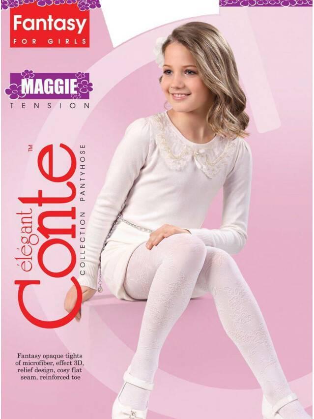 Fancy children's tights CONTE ELEGANT MAGGIE, s.104-110, bianco - 1