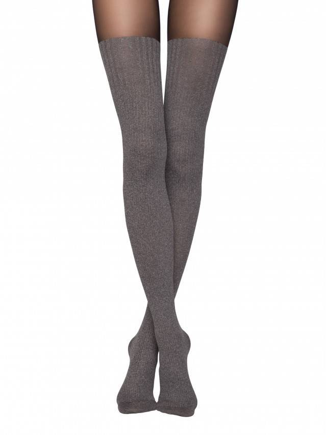 Tights with imitation melange golfins DEMI Lycra® 1