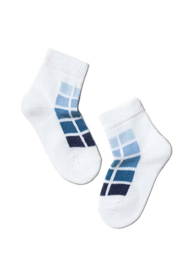 Children's socks CONTE-KIDS TIP-TOP, s.10, 217 white-denim - 1