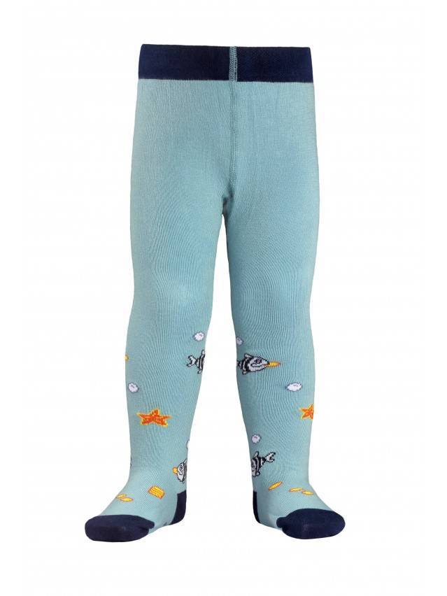 Children's tights CONTE-KIDS TIP-TOP, s.62-74 (12),379 grey-turquoise - 1