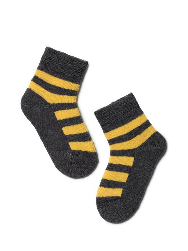 Children's socks CONTE-KIDS SOF-TIKI, s.10, 210 dark grey-yellow - 1