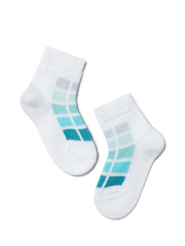 Children's socks CONTE-KIDS TIP-TOP, s.8, 217 white-turquoise - 1