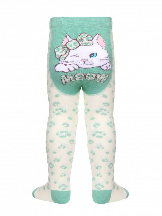 Children's tights CONTE-KIDS TIP-TOP, s.62-74 (12),382 cream-light green - 1