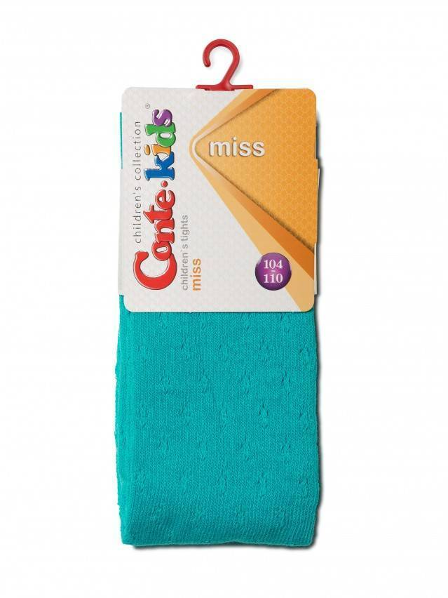 Children's tights CONTE-KIDS MISS, s.104-110 (16),404 turquoise - 2