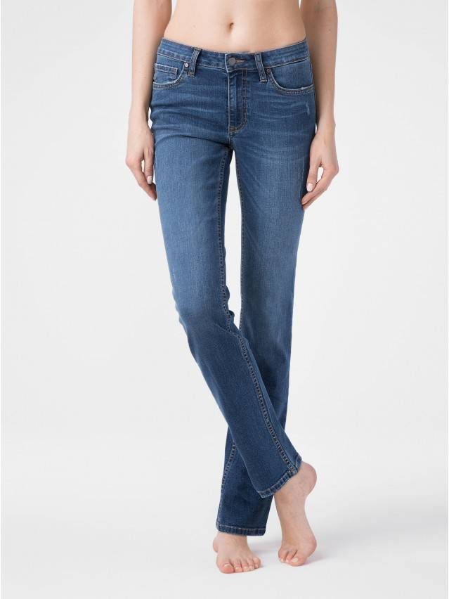 Denim trousers CONTE ELEGANT CON-152, s.164-98, authentic blue - 1