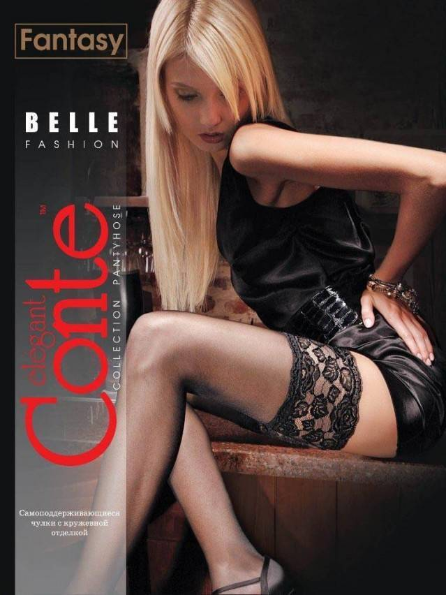 Women's stockings CONTE ELEGANT BELLE - CLASS 20, s.23-25 (1/2),rosso - 1