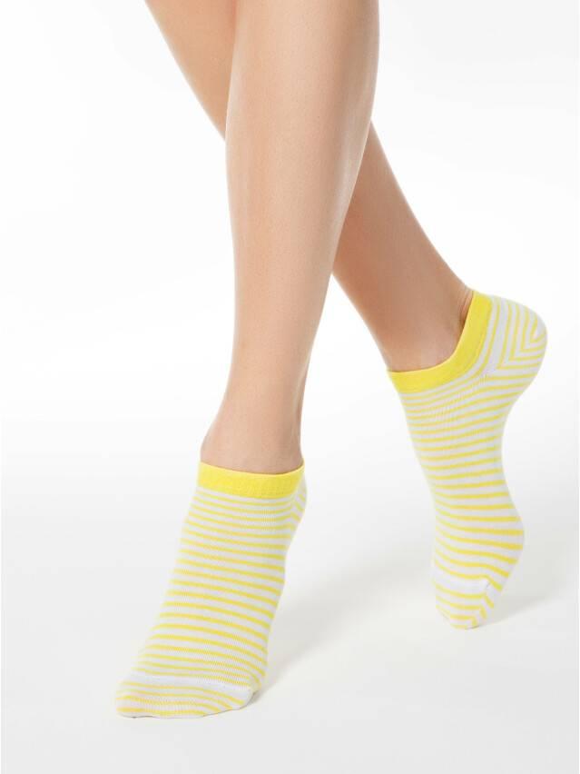 Women's socks CONTE ELEGANT ACTIVE, s.23, 073 white-yellow - 1