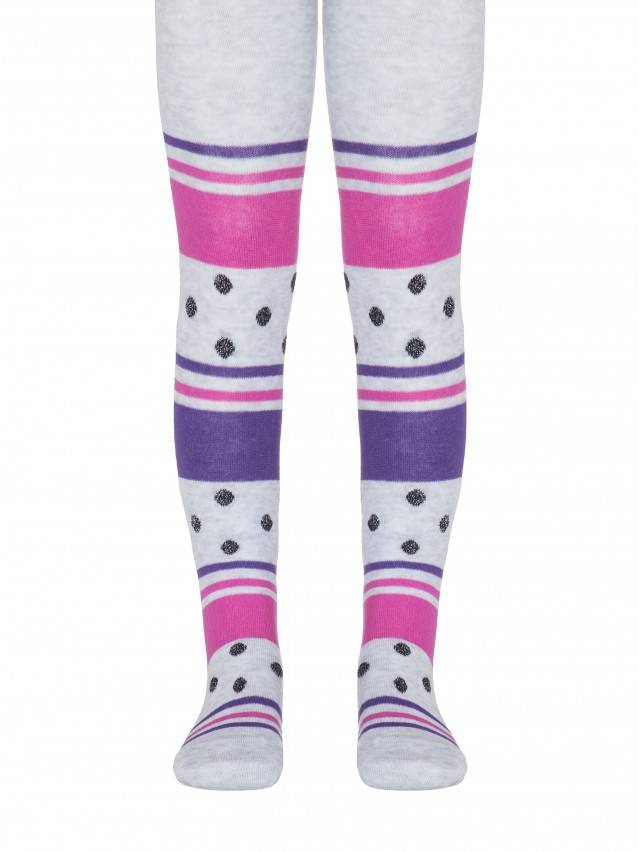 Children's tights CONTE-KIDS TIP-TOP, s.92-98 (14),408 light grey-fuchsia - 1