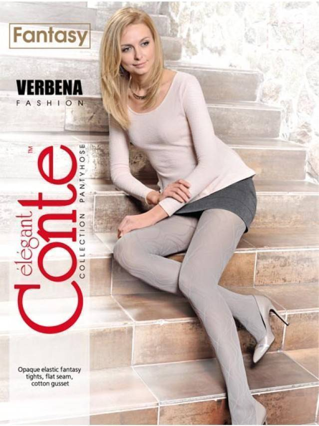 Women's tights CONTE ELEGANT VERBENA, s.2, nero - 2