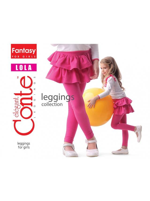 Leggings for girls CONTE ELEGANT LOLA, s.110,116-56, nero - 1