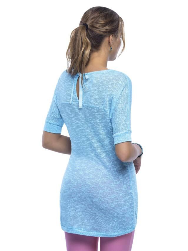 Women's polo neck shirt CONTE ELEGANT LD 524, s.170,176-100, azure - 1