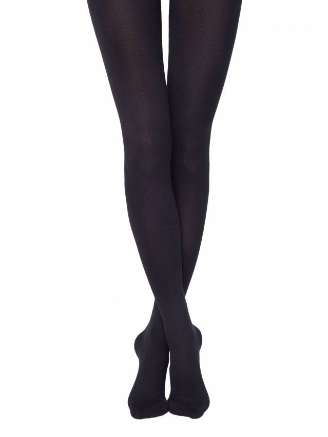Women's tights CONTE ELEGANT COTTON 400, s.2, nero - 1