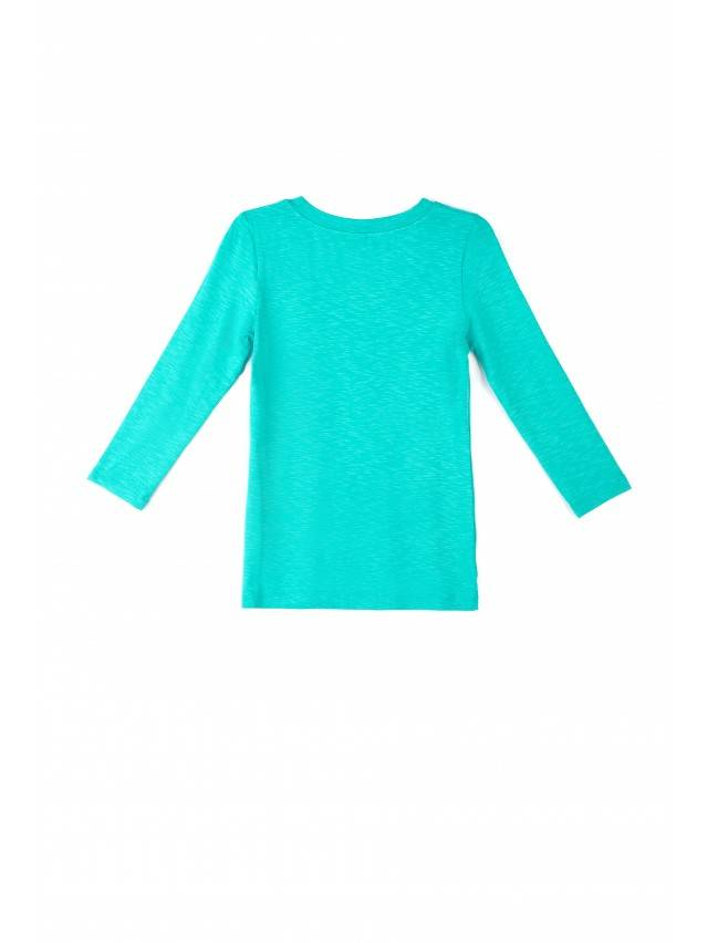 Women's polo neck shirt CONTE ELEGANT LD 478, s.158,164-100, turquoise - 3