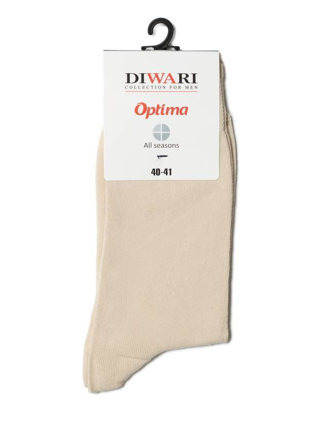 Men's socks DiWaRi OPTIMA (All seasons),s. 40-41, 000 beige - 2