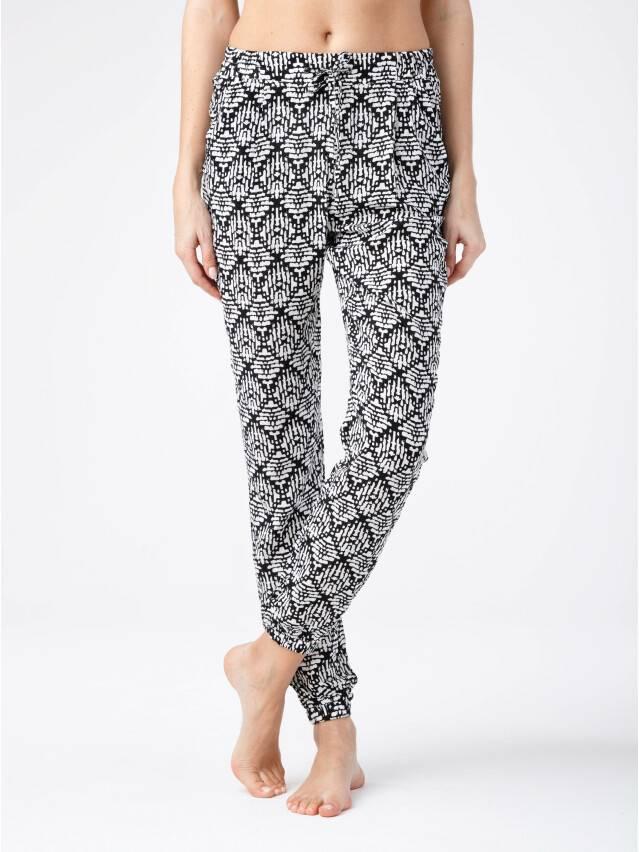 Women's trousers CONTE ELEGANT SAMIRA, s.164-64-92, black-white - 1
