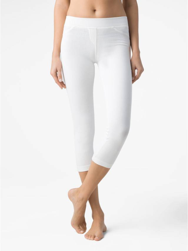 Women's knee pants CONTE ELEGANT MARTINA, s.164-102, white - 1