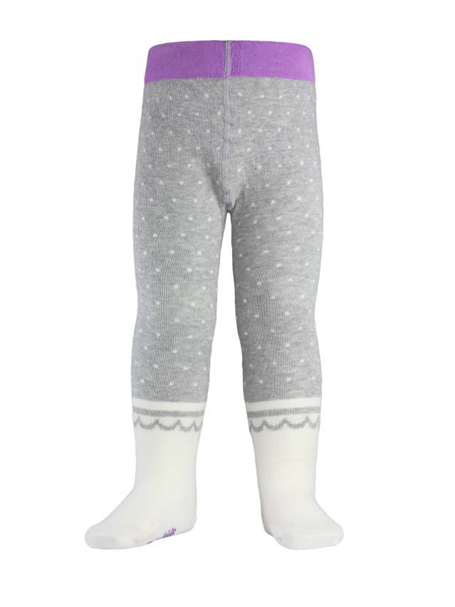 Children's tights CONTE-KIDS TIP-TOP, s.62-74 (12),383 grey-cappuccino - 1