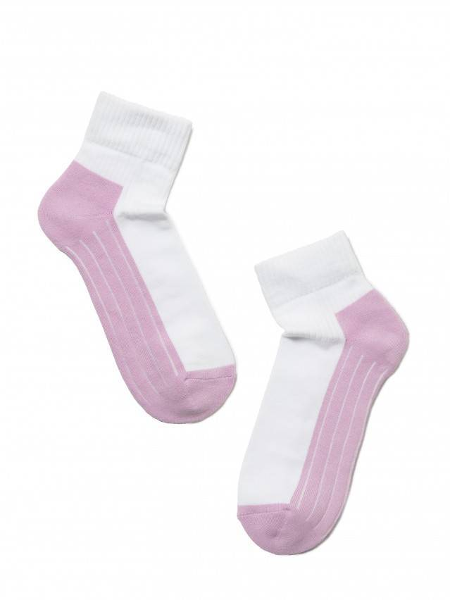 Women's socks CONTE ELEGANT ACTIVE, s.23, 026 white-lilac - 2