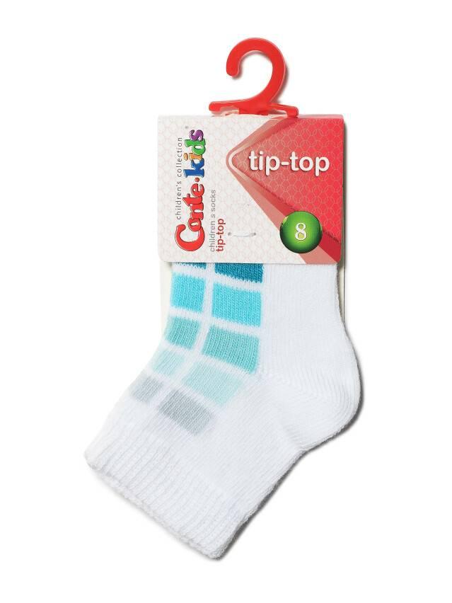 Children's socks CONTE-KIDS TIP-TOP, s.8, 217 white-turquoise - 2