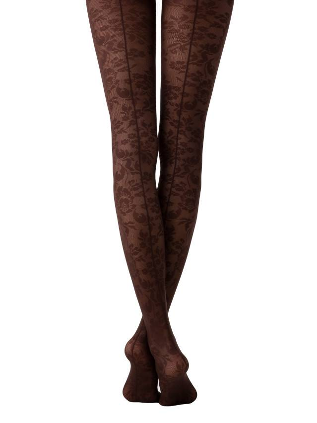 Women's tights CONTE ELEGANT LACE, s.2, chocolate - 1