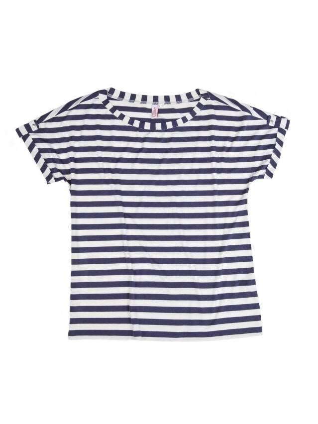 Women's polo neck shirt CONTE ELEGANT LD 504, s.170,176-84, dark blue-white - 1