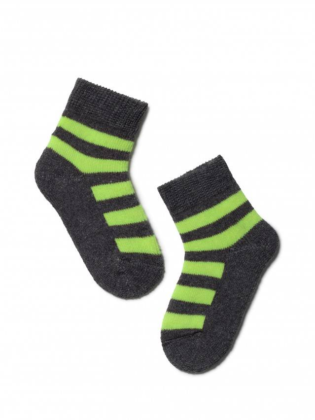 Children's socks CONTE-KIDS SOF-TIKI, s.10, 210 dark grey-lettuce green - 1