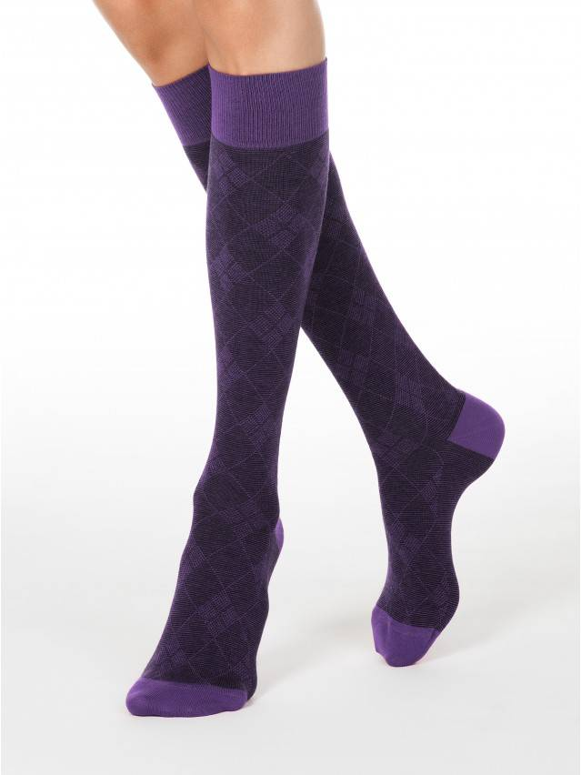 Women's knee high socks CONTE ELEGANT CLASSIC, s.25, 003 violet - 1
