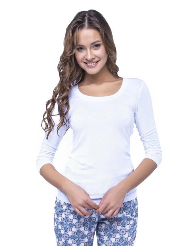 Women's polo neck shirt CONTE ELEGANT LD 478, s.158,164-100, white - 1