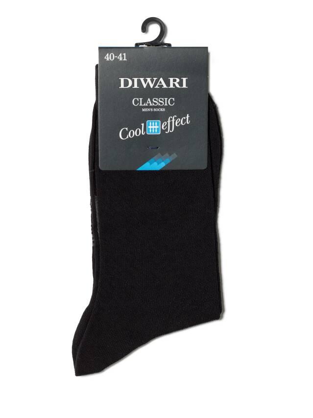 Men's socks DiWaRi CLASSIC COOL EFFECT, s. 40-41, 010 black - 2
