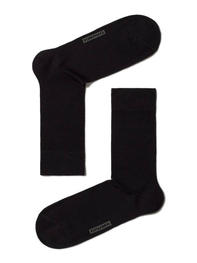 Men's socks DiWaRi OPTIMA (All seasons),s. 40-41, 000 black - 1