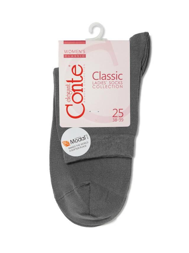 Women's socks CONTE ELEGANT CLASSIC, s.23, 000 dark grey - 3