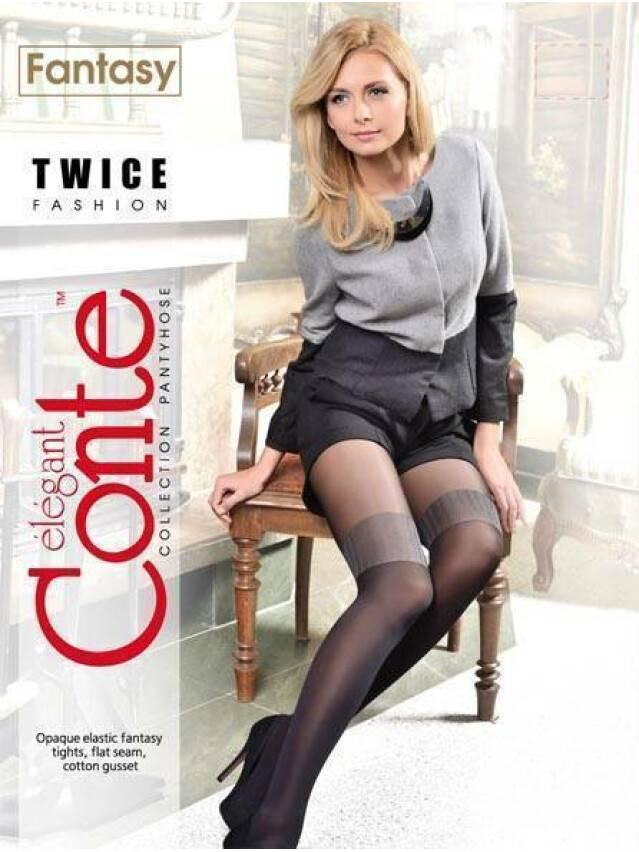 Women's tights CONTE ELEGANT TWICE, s.2, chocolate - 2