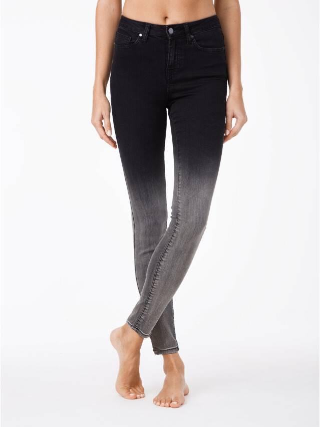 Denim trousers CONTE ELEGANT CON-57, s.170-102, black - 1